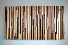 Wood Sculpture Queen Headboard Or Wall Art - Lines - 36 X 64