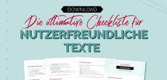 Checkliste nutzerfreundliche Texte
