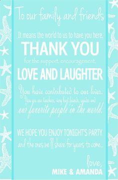 Beach Wedding Starfish Thank you Reception cards Customizable - Flat on Etsy, $30.00