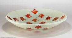 """""""Flamenco III"""", 15"""" kilnformed bowl Steve Immerman Kiln Formed Glass Art immermanglass.com"""