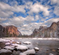 Valley View In A Winter Wonderland - Yosemite National Park by kevin mcneal, via Flickr