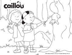 Caillou's Squirrel Fun – Coloring Sheet!