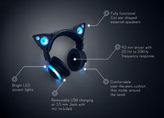 Axent Wear Cat Ear Headphones | Indiegogo --- These are just the coolest headphones I've ever seen omfg https://www.indiegogo.com/projects/axent-wear-cat-ear-headphones
