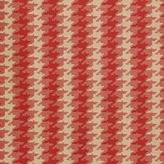 Granagh Fabric A smart and sophisticated fabric with a mid scale stylised houndstooth design woven in red and linen.
