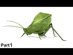 Origami Leaf Katydid tutorial (Brian Chan) part 1 折り 紙 コノハギス insecto hoja - YouTube Origami Insects, Origami Animals, Brian Chan, Origami Leaves, Paper Crafts Origami, Origami Tutorial, Videos, Youtube, Create
