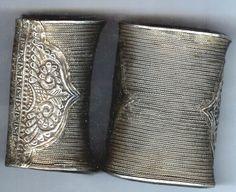 Old silver hill tribe cuffs, ca.1910-15