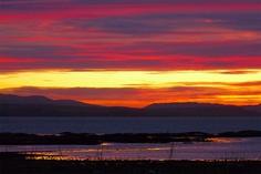 Stunning December sunset across the Sound of Mull, Scotland. [Photo by Jenny Chapman.]