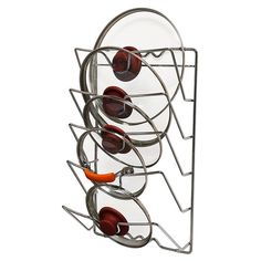 DecoBros Wall Door Mounted Pot Lid Rack