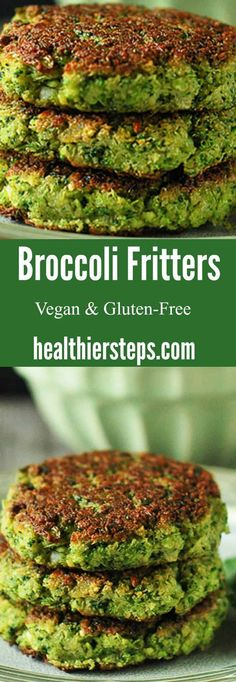 Broccoli Fritters Delicious broccoli fritters that are vegan and. Broccoli Fritters Delicious broccoli fritters that are vegan and gluten-free Broccoli Recipes, Vegetable Recipes, Vegetarian Recipes, Healthy Recipes, Free Recipes, Veggie Food, Broccoli Fritters, Broccoli Patties, Whole Food Recipes