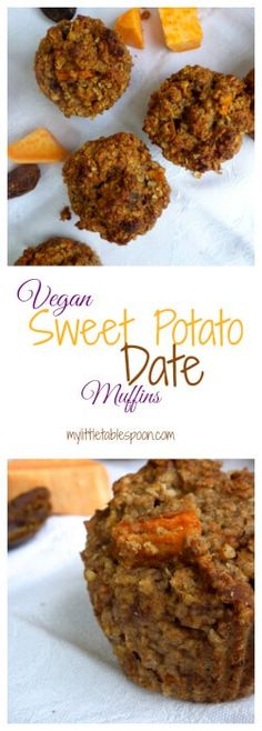 Sweet Potato Date Muffins   Vegan   Whole Grain