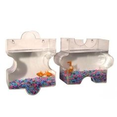 Jigsaw Combination Wall Mount Hanging Beta Fish Bubble Aquarium Bowl Tank  #KAZEHOME #Aquarium