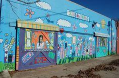 mural on Allen Avenue Fort Worth, Murals, Fair Grounds, Relax, Walls, Fun, Travel, Voyage, Wall Murals