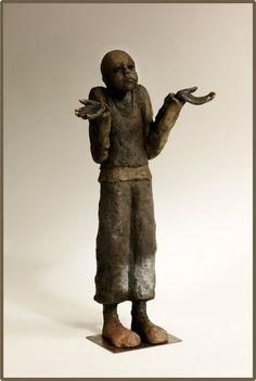 Galerie Joelle Gervais Gervais, Light Mask, Sculptures Céramiques, Les Oeuvres, Masks, Mixed Media, Wall Decor, Textiles, Statue