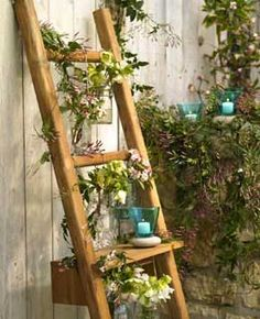 Great idea for a small space.  Also consider rain gutters for growing plants on an outdoor wall!