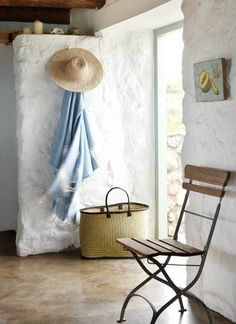 Living the Simple Life in a Modest Beach Stone Cottage - interior  - photos  : beachblissliving #2
