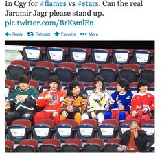 hockey fans are the best in the world. Jagr throughout the years hah