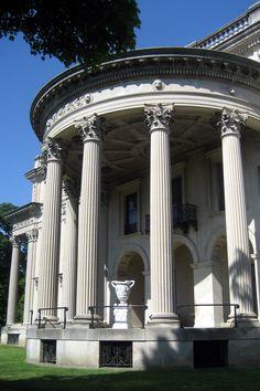 NY - Hyde Park: Vanderbilt Mansion NHS - Vanderbilt Mansion - west portico