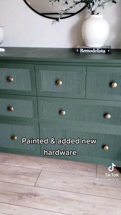 Ikea Dresser Makeover, Ikea Furniture Makeover, Diy Furniture Renovation, Ikea Furniture Hacks, Furniture Paint Colors, Painted Bedroom Furniture, Blue Furniture, Up Cycled Furniture, Refurbished Furniture