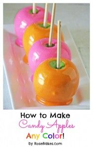 Recipe For  How to Make Hot Pink Candy Apples