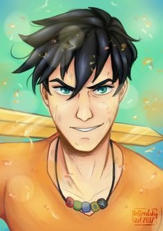 This is Percy Jackson, son of Poseidon god of the sea Percy Jackson Fandom, Percy Jackson Characters, Percy Jackson Fan Art, Percy Jackson Memes, Percy Jackson Books, Percy And Annabeth, Annabeth Chase, Fanart, Heroes Of Olympus