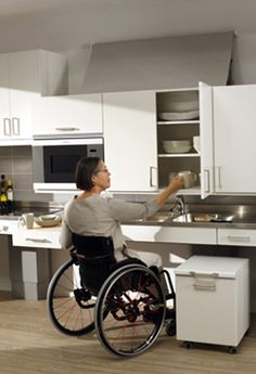 Now kitchens are designed to be compatible for someone with or without a disability. Its all about functionality.