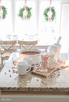 Homemade Hot Chocolate   Christmas Kitchen - Ella Claire