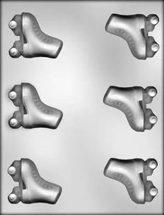 Roller Skates Chocolate Mold for all types of crafts, can maybe be altered to quad skate shape too with clay etc