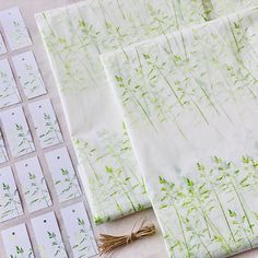 Handmade tissue paper and matching gift tags. See our Etsy shop for more details.