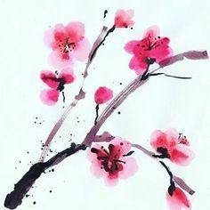 【michpro】さんのInstagramをピンしています。 《#cherryblossoms  #acuarela  #japan  #flowers  #floresdecerezo  #inspire》