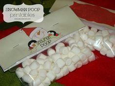 Snowman Poop Printable