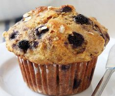 Recette: Muffins aux bleuets. Dessert Weight Watchers, Scones, Biscotti, Brownies, Deserts, Food And Drink, Sugar, Breakfast, Cake