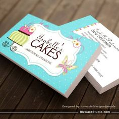 Doodles cookies cupcakes flowers bakery sweets business card whimsical bakery business card created by colourfuldesigns this design is available on several paper types and is totally customizable reheart Gallery
