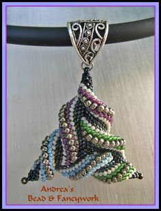 "Pinner said ""Andrea's Bead & Fancywork: Totally Twisted the 2nd  How does she do that?!!""  --- This is actually a design by June Huber.  She has many patterns which, like this one, will make you wonder how she does it.  They are so fun to stitch.  I've taken a few classes from her.  Just google her!"