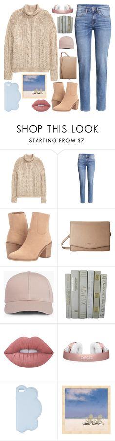 """Talking About You"" by sweet-jolly-looks ❤ liked on Polyvore featuring H&M, Rocket Dog, Liebeskind, Lime Crime, STELLA McCARTNEY, casual, set, jeans, fillers and 6pm"
