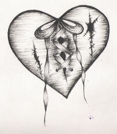 Pretty Broken Hearts Drawings Bheart B