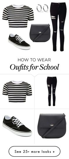 """Off to school"" by sassyladies on Polyvore featuring Topshop, Miss Selfridge, Vans, Sophie Buhai and Kate Spade"