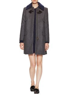 Wool Coat with Flap Pockets from Fall Trends: Statement Coats on Gilt