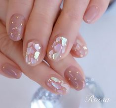 Minimalist Nails, Nail Swag, Stylish Nails, Trendy Nails, Cute Nail Art, Cute Nails, Romantic Nails, Nagel Bling, Korean Nail Art