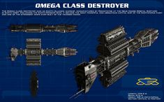 Omega Class destroyer ortho [new] by unusualsuspex.deviantart.com on @deviantART