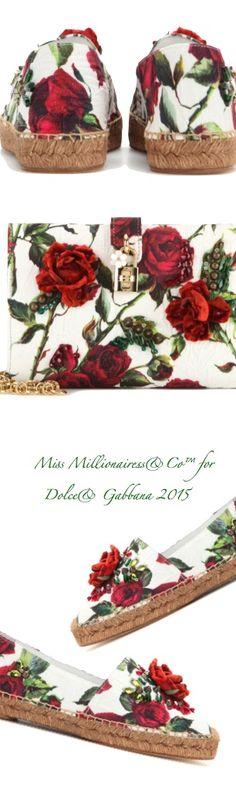 Dolce | Gabbana 2015 Embellished Brocade Espadrilles