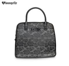 #Loungefly's lovely lace floral skull handbag is sure to be your new go-to accessory. Matching wallet also available!  http://www.loungefly.com/brands/loungefly/bags/loungefly-skulls-and-flowers-tote.html