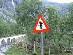 Trollstigen Sign in Norway