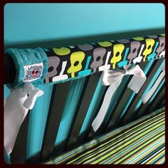 Eething baby? No problem! We have custom rail covers for that!