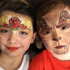 Beauty and The Beast! The movie inspires! #facepaintingbyeileend #facepaint #niverville #winnipeg #steinbach #beautyandthebeast #entertainer #facepainter #rose #beast #belle
