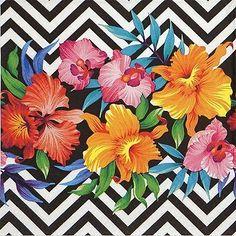 4 Single Festa Almoço Guardanapos de papel para decoupage Decopatch Craft Flor Tropical