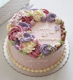 buttercream birthday cakes for women – Bing images – Cakes – trendtwo Birthday Cake For Mom, Pretty Birthday Cakes, Birthday Cake With Flowers, Adult Birthday Cakes, Birthday Cakes For Women, Pretty Cakes, Cute Cakes, Flower Birthday, Buttercream Cake Designs