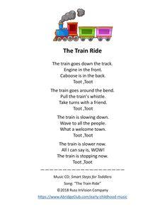 Trains Preschool, Preschool Songs, Preschool Literacy, Kindergarten Activities, Toddler Preschool, Children Music, Music For Kids, Young Children, Songs For Toddlers