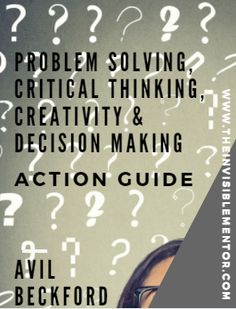 The Problem Solving, Critical Thinking, Creativity, & Decision-Making Summary and Action Guide is a workbook that will help you to learn the four skills, which are among the 10 skills needed for future jobs. The Action Guide introduces you to models that walk you through the process to learn the skills by practicing.  The process starts with you identifying meaningful problems to solve and ends with solving the problem.  Buy your copy of Problem Solving, Critical Thinking, Creativity, &am...