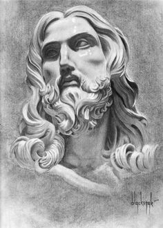 Bernini Sculpture by on DeviantArt Tattoo Jesus Cristo, Jesus Tattoo, Mary Tattoo, Jesus Christ Drawing, Jesus Christ Statue, Time Tattoos, Sleeve Tattoos, Bernini Sculpture, Statue Tattoo