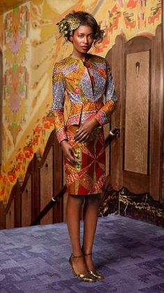 STAND OUT IN STYLE | A sculptured silhouette with waist-whittling peplum | #vlisco #wedding by DeeDeeBean